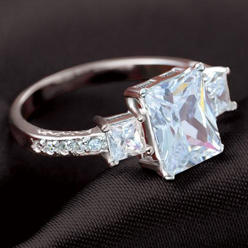 ring vierkante steen
